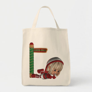 Christmas Elf  Grocery Tote Grocery Tote Bag