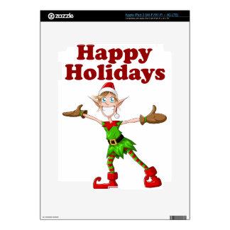 Christmas Elf Happy Holidays iPad 3 Decal