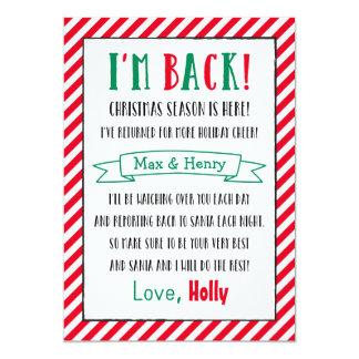Christmas Elf is Back | Custom Letter Card