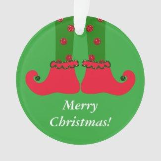 Christmas Elf Legs Acrylic Ornament