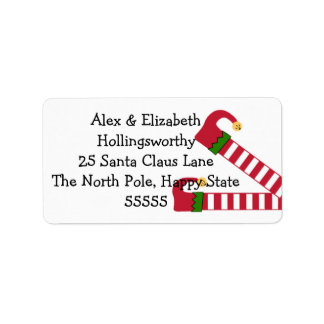 Christmas Elf Legs Label