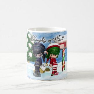 Christmas elf mug naughty or nice?