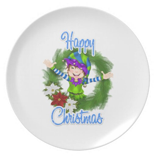 Christmas Elf Party Plate