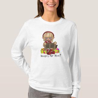 Christmas Elf personalize Nano Long Sleeve T-Shirt