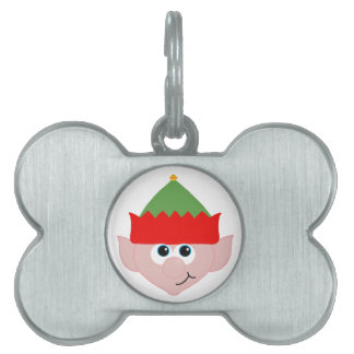 Christmas Elf Pet Name Tag