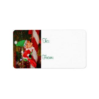 Christmas Elf Pokey Gift Tags