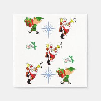 Christmas elf santa claus napkins lunch/dinner