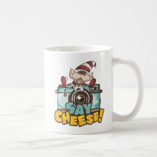 "Christmas Elf - ""Say Cheese"" Coffee Mug"