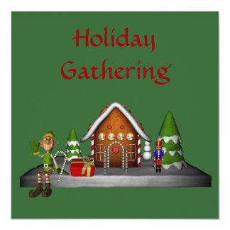 Christmas Elf Scene Holiday Party Invitation