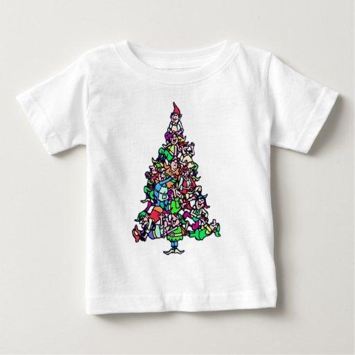 christmas elf tree tshirt
