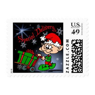 Christmas Elf US Postage Stamp