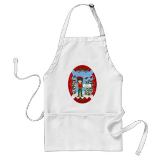 Christmas Elf with Candy Canes Apron