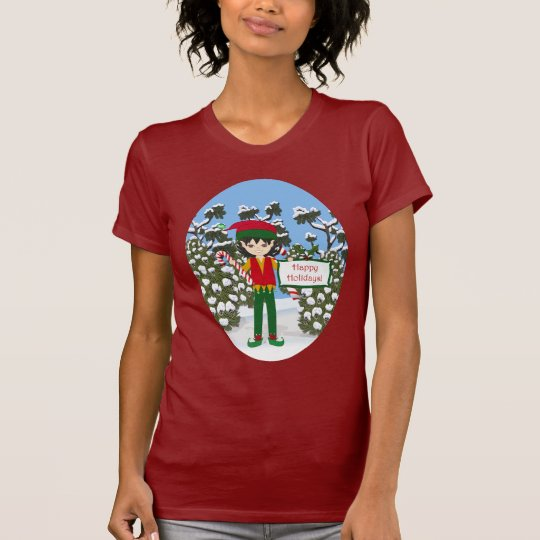Christmas Elf with Candy Canes Shirt