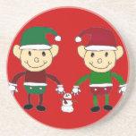 Christmas Elves Beverage Coaster