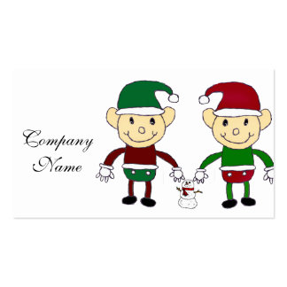 Christmas Elves Business Cards