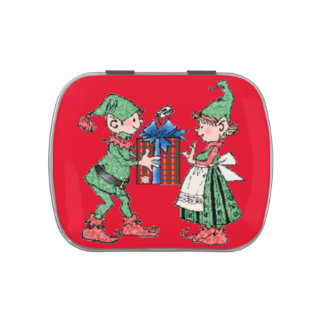 Christmas Elves Candy Tin