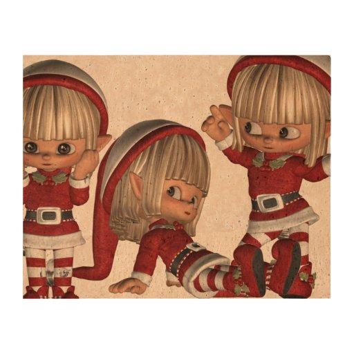 Christmas Elves Cork Paper