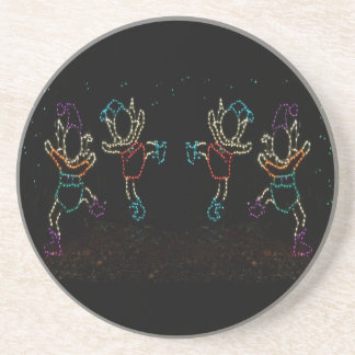 Christmas Elves Dancing 2 2016 Drink Coaster