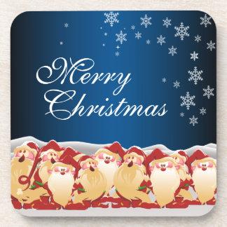 Christmas Elves Gift Tags Coaster