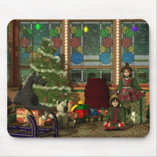 Christmas Elves Mouse Pad