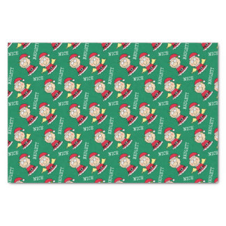Christmas Elves Naughty and Nice Tissue Paper
