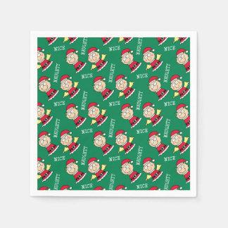 Christmas Elves Naughty or Nice Paper Napkin