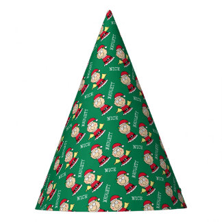 Christmas Elves Naughty or Nice Party Hat