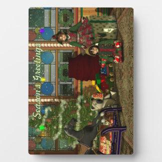 Christmas Elves Plaque