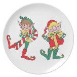 Christmas Elves Plate
