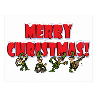Christmas Elves Postcard