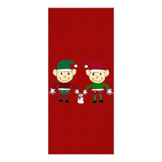 Christmas Elves Rack Card