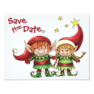 Christmas Wedding Save The Date Invitations & Announcements | Zazzle