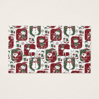 Christmas Elves & Snowmen Business Card