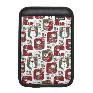 Christmas Elves & Snowmen iPad Mini Sleeve