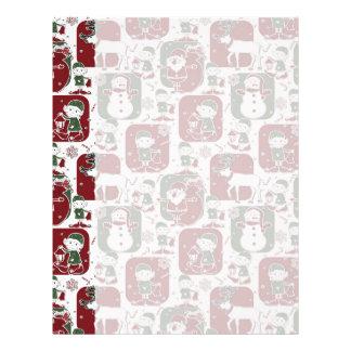 Christmas Elves & Snowmen Letterhead