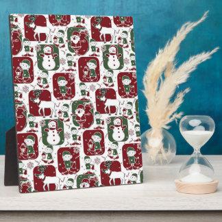 Christmas Elves & Snowmen Plaque