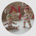 Christmas Elves To and From Sticker