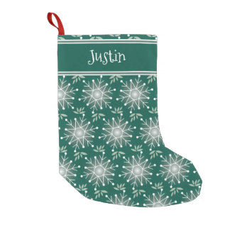 Christmas emerald green stocking personalize name
