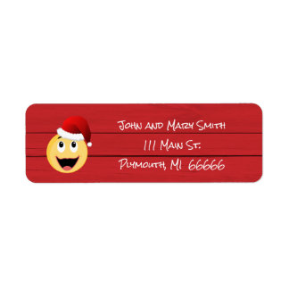 Christmas Emoji Address Label