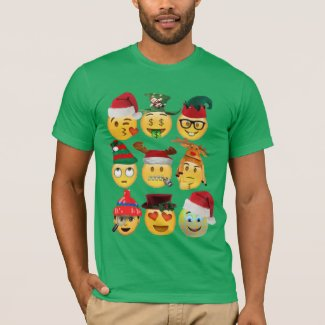 christmas emoji collection funny shirt-design T-Shirt