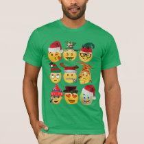 christmas emoji decorations funny shirt-design T-Shirt
