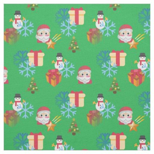 Christmas emoji fabric zazzle for Emoji fabric