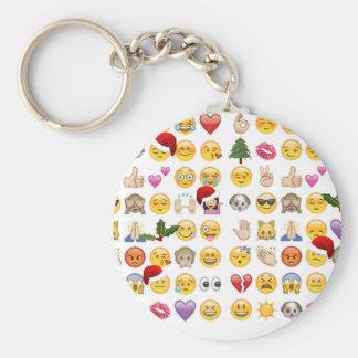christmas emojis keychain