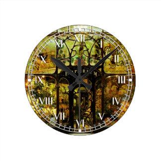 Christmas Emporium Round Clock
