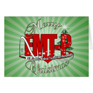 CHRISTMAS EMT-P Emergency Medical Tech Paramedic Card