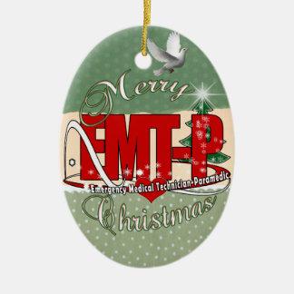 CHRISTMAS EMT-P Emergency Medical Tech Paramedic Ceramic Ornament