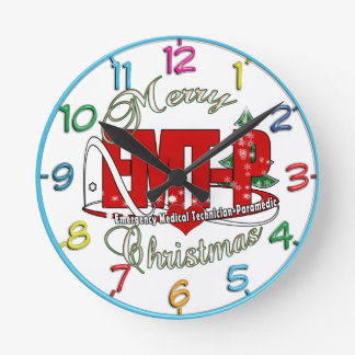 CHRISTMAS EMT-P Emergency Medical Tech Paramedic Clock