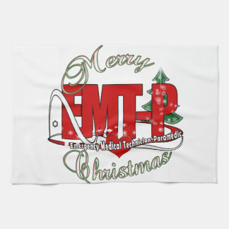 CHRISTMAS EMT-P Emergency Medical Tech Paramedic Kitchen Towels