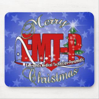 CHRISTMAS EMT-P Emergency Medical Tech Paramedic Mouse Pad