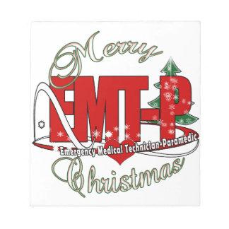 CHRISTMAS EMT-P Emergency Medical Tech Paramedic Memo Pad